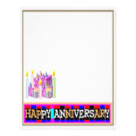 HAPPY Anniversary - touch of class in relationship Letterhead Template
