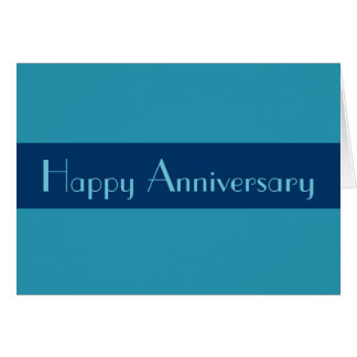 Happy Anniversary Turquoise blue Card