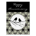 Happy Anniversary Two Birds of a Feather Greeting Card