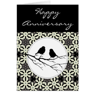 Happy Anniversary Two Birds of a Feather Card
