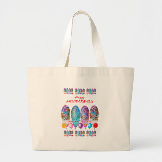 Happy ANNIVERSARY: Txt editable any occassion Tote Bags