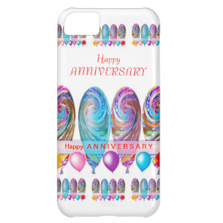 Happy ANNIVERSARY: Txt editable any occassion iPhone 5C Case