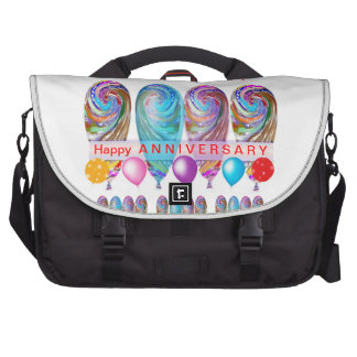 Happy ANNIVERSARY: Txt editable any occassion Laptop Bags