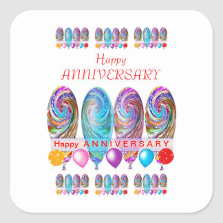 Happy ANNIVERSARY: Txt editable any occassion Stickers
