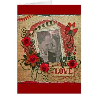 Happy Anniversary/Wedding/Engagement -Vintage Card