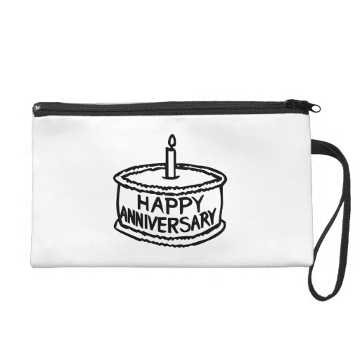 Happy Anniversary Wristlet Clutches