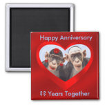 Happy Anniversary ?? Years Together-magnet 2 Inch Square Magnet