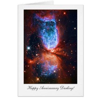 Happy Anniversay Darling - Cygnus, The Swan Greeting Card
