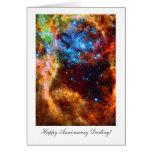 Happy Anniversay Darling, Stellar Nursery in Space Greeting Cards