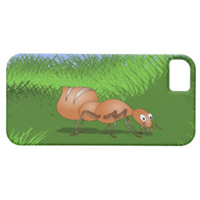Happy ant in a lush meadow iPhone 5/5S cases