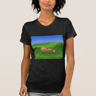 Happy ant in a lush meadow tee shirts