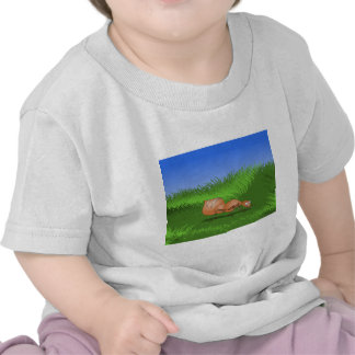 Happy ant in a lush meadow t-shirt
