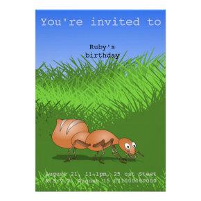 Happy ant party invite