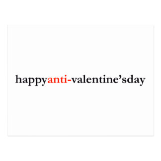 happy anti-valentine s day post cards