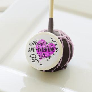 Happy Anti-Valentine's Day Cake Pops
