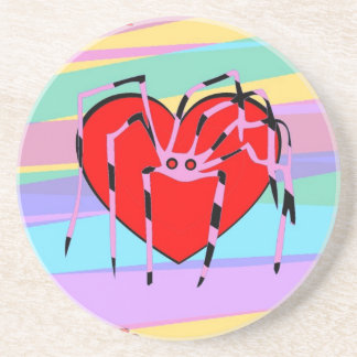 Happy Anti-Valentines Day! Here, have a SPIDER! Coaster