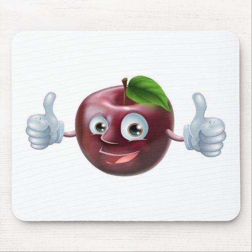 Happy apple man mousemat