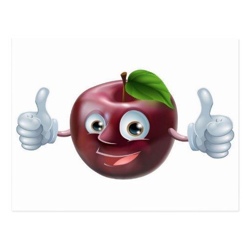 Happy apple man postcard