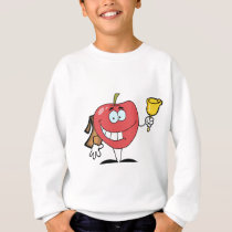 Happy Apple Ringing A Bell For Back To School Sweatshirt