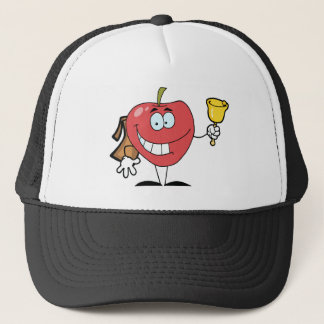 Happy Apple Ringing A Bell For Back To School Trucker Hat