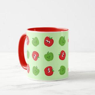 Happy Apples Cute Fruity Cartoon Mug