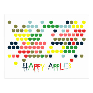 Happy apples post cards