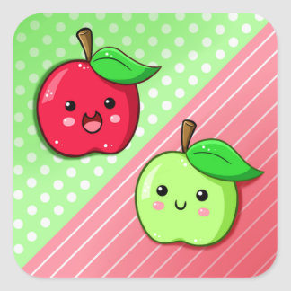 Happy Apples Square Sticker
