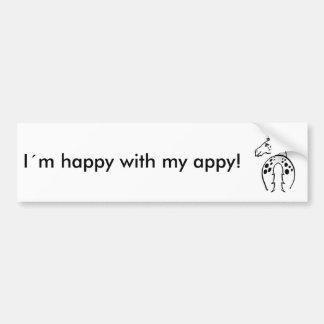 Happy Appy Bumper Sticker