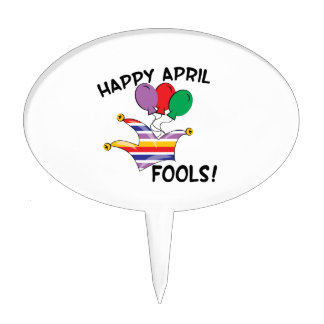 Happy April Fools Cake Toppers