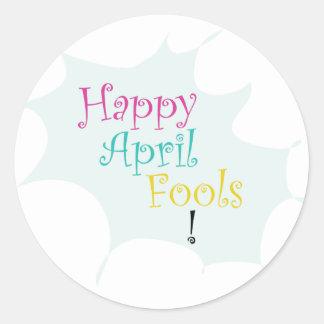 Happy April Fool's Classic Round Sticker