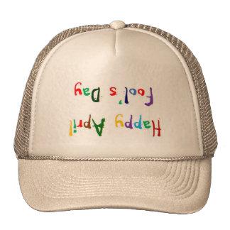 Happy April Fool's Day Upside Down Trucker Hat