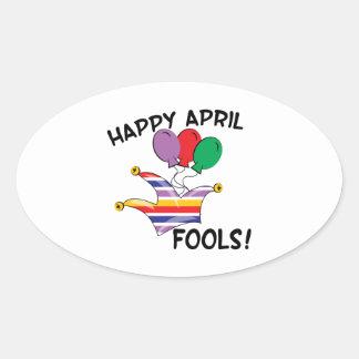 Happy April Fools Oval Sticker