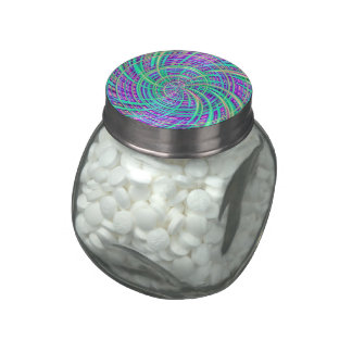 Happy aqua (C) Glass Candy Jars