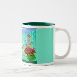 Happy Aquarium Green Mug- Loraine