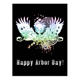 Happy Arbor Day! : hi-fi tree Postcard