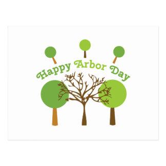 Happy Arbor Day Postcard