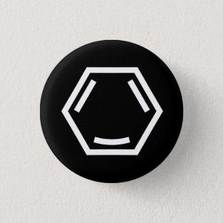 Happy Arene (single, white) Button