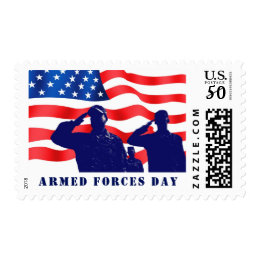 Happy Armed Forces Day Postage Stamps