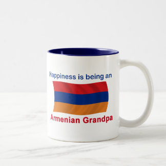 Happy Armenian Grandpa Two-Tone Coffee Mug