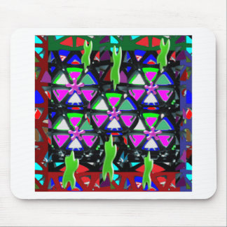 HAPPY Art All Occasions Flowers Stars Pink NVN703 Mouse Pad