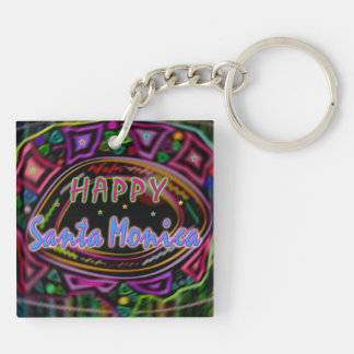 "Happy Art: ""Happy Santa Monica"" Keychains"