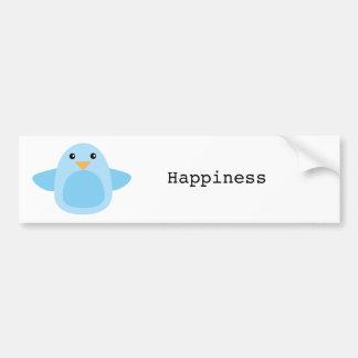 Happy as a Bluebird Bumper Sticker