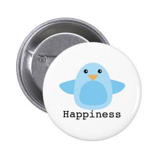 Happy as a Bluebird Pinback Button