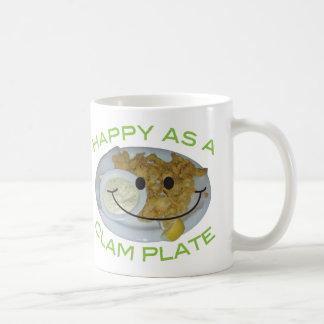 happy as a clam plate humorous parody Mug