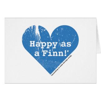 Happy as a Finn Folding Card