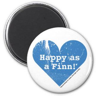 Happy as a Finn Magnet