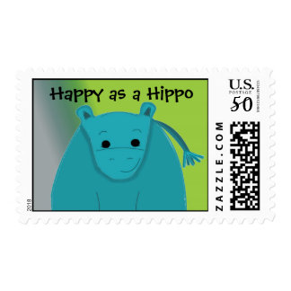 Happy as a Hippo Postage