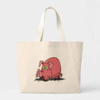 Happy as a pig in mud canvas bag