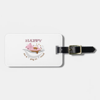 HAPPY AS A PIG IN MUD TAGS FOR BAGS