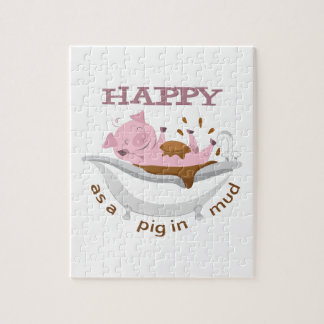 HAPPY AS A PIG IN MUD PUZZLES